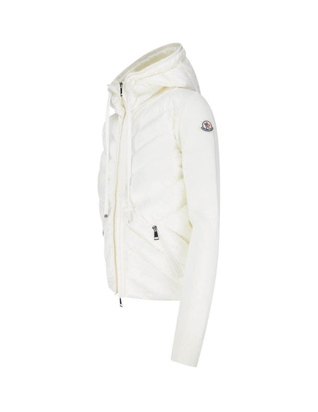 Women's White Moncler Hooded Cardigan 0939B52210A9001030