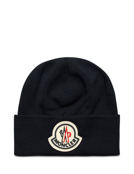 Moncler Men's Giulio Fashion Navy Knitted Beanie 0919Z73600A9526742