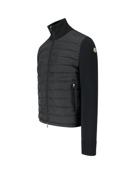 Moncler Men's Black Knitted Sleeve Nylon Jacket 941270094666999