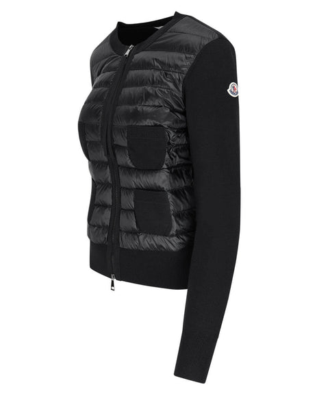 Women's Moncler Lined Cardigan in Black - 0939B51000A9018999
