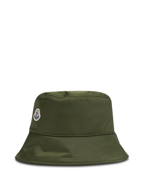 Moncler Women's Giulio Fashion Dark Green Logo Bucket Hat 0933B70600C041081A