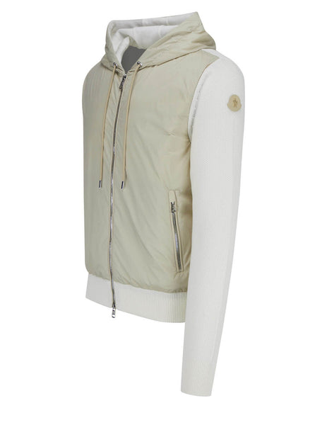 Men's Moncler Longue Saison Knit Cardigan in White - 0919B52300V9185002