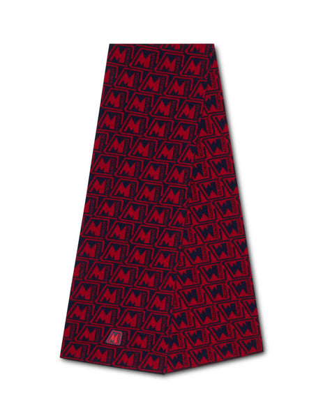 Moncler Men's Giulio Fashion Red M Logo Scarf 0919Z75300A9379456