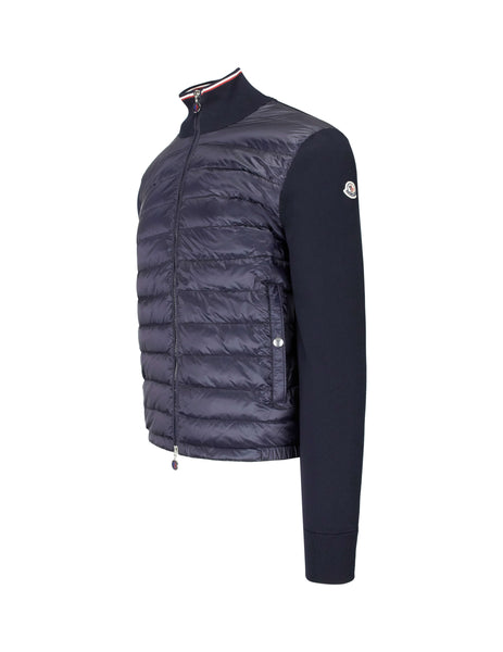Moncler Men's Giulio Fashion Navy Quilted Tricot Cardigan 9421900V9049742