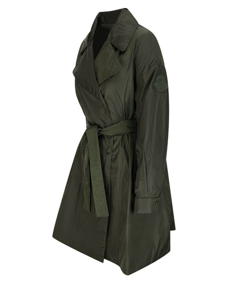 Women's Moncler Meboula Trench Coat in Green - 0931C5960054155833