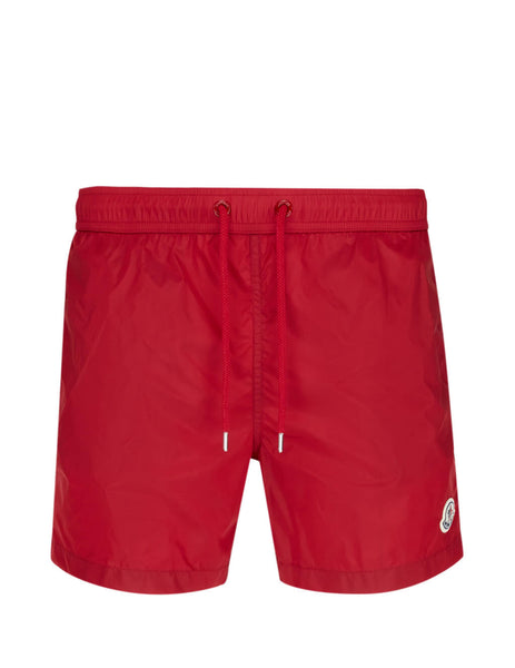 Men's Red Moncler Mini Swim Shorts 0912C7080053326455
