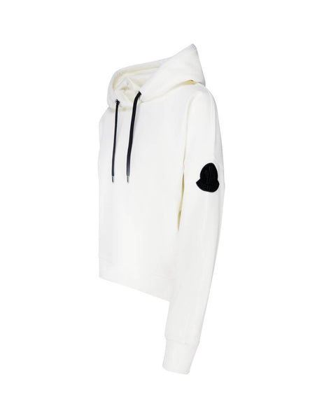 Moncler Women's Giulio Fashion White Monochrome Hoodie 0938G75210V8186032