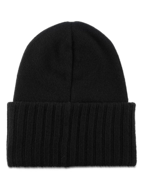 Moncler Men's Giulio Fashion Black Oversized Logo Beanie 9926200A9186999