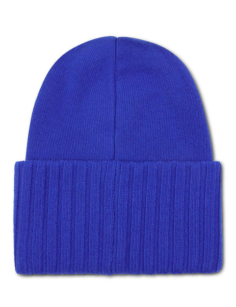 Moncler Men's Giulio Fashion Blue Oversized Logo Beanie 9926200A9186736