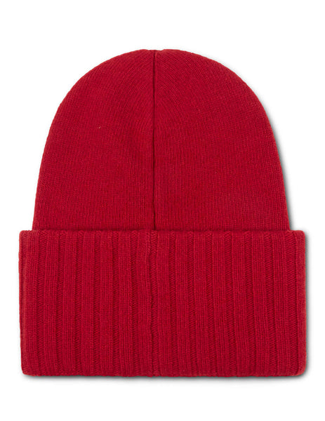 Moncler Men's Giulio Fashion Red Oversized Logo Beanie 9926200A9186456