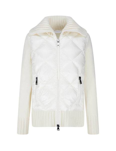 Women's Natural White Moncler Padded Cardigan 0939B51600A9197034