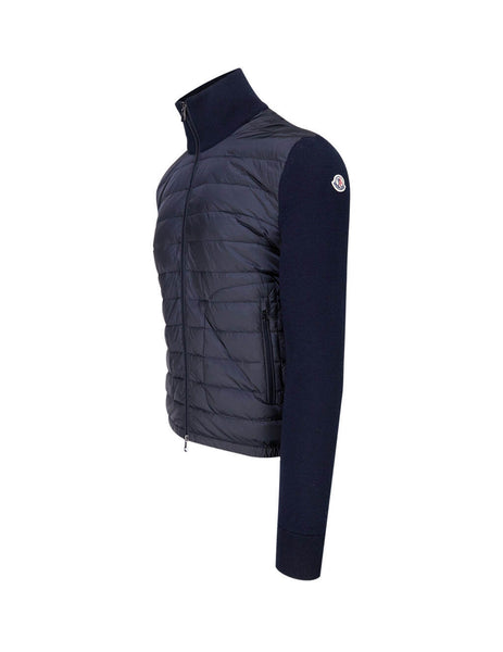 Moncler Men's Giulio Fashion Navy Padded Zip Jumper 0919B50700A9341777