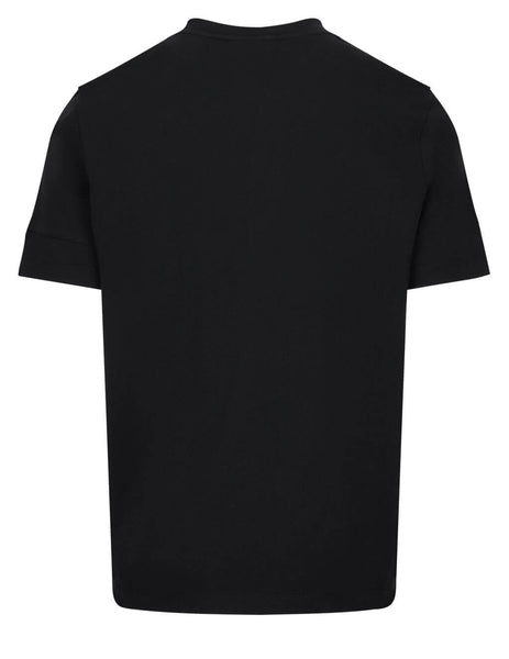 Men's Moncler Perforated Label T-Shirt in Black - 0918C7B210829H8999
