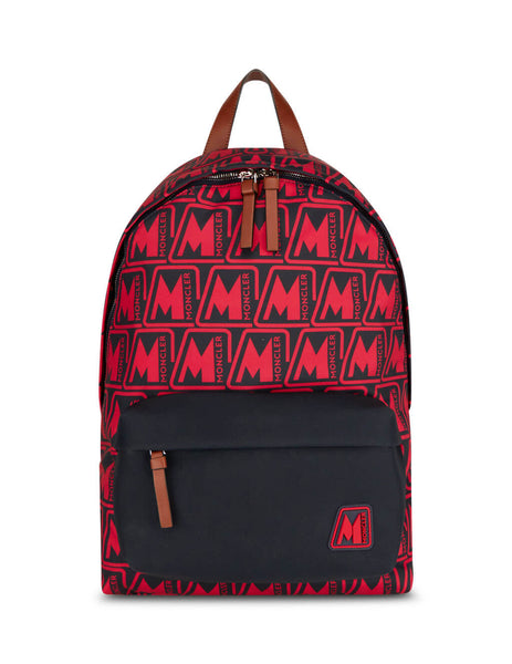Men's Moncler Pierrick Backpack in Red and Black. 09A5A7040002SL3450