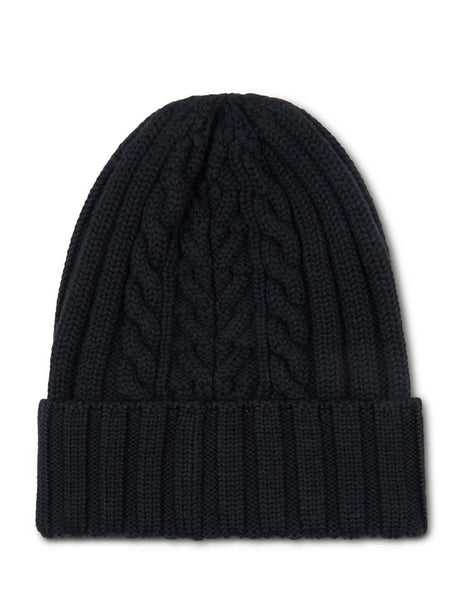 Moncler Women's Giulio Fashion Black Plaited Beanie 9963300A9146999
