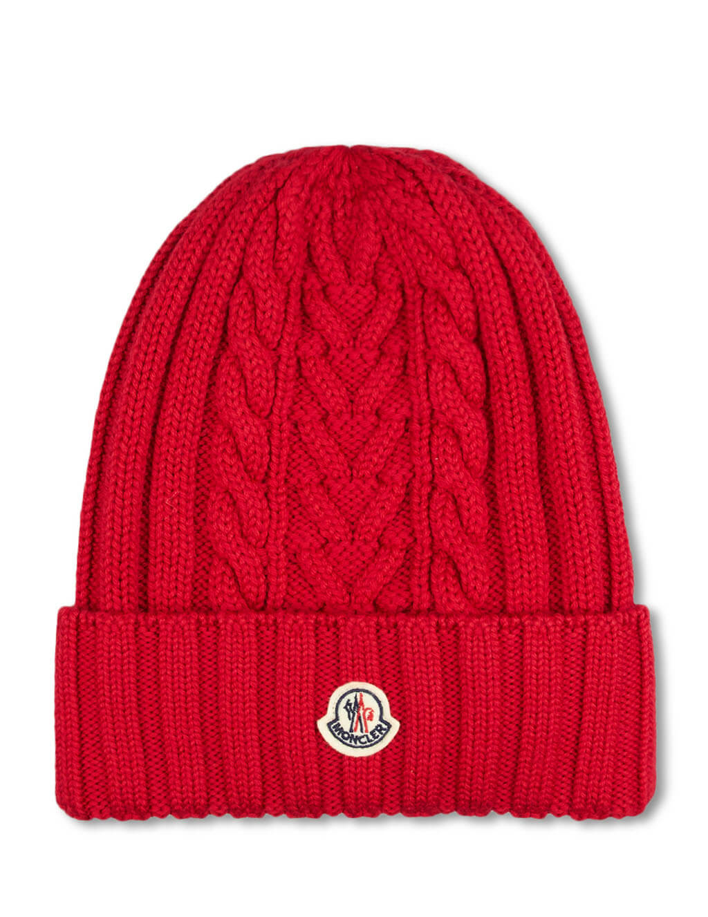 Moncler Women's Giulio Fashion Red Plaited Beanie 9963300A9146440
