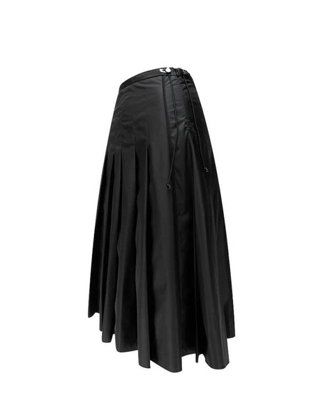 Women's Black Moncler Pleated Midi Skirt 0931B51200C0064512