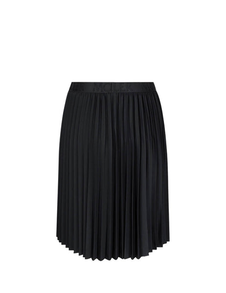 Women's Black Moncler Pleated Skirt 0938H70920C8030999
