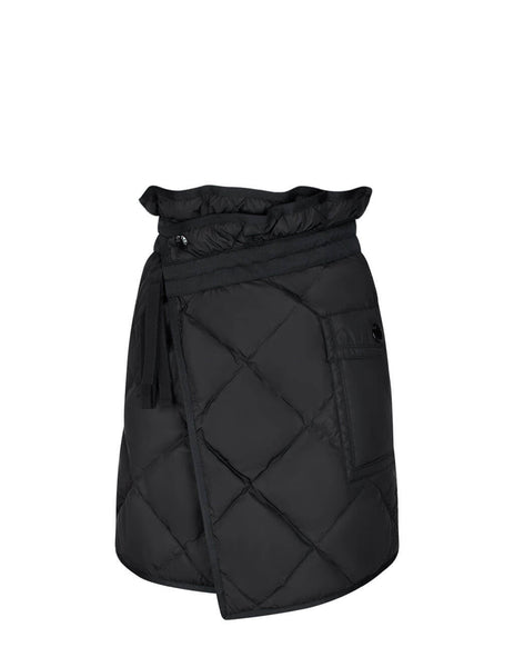Moncler Women's Giulio Fashion Black Quilted Skirt 0932D50600C0063999