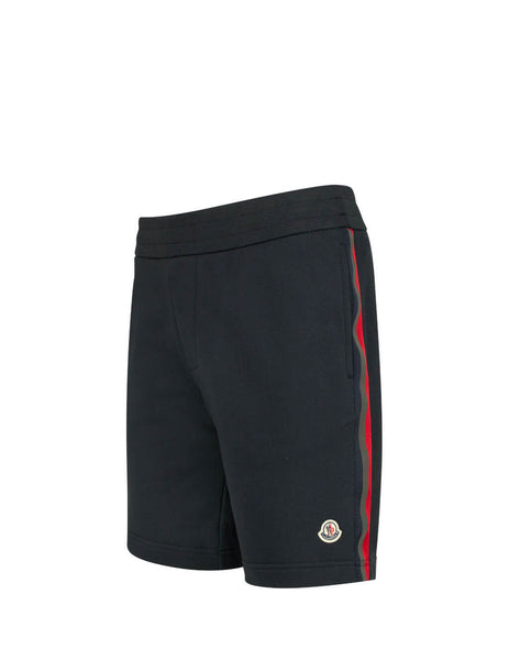 Moncler Men's Navy Reflective Band Shorts 0918H708008098U778