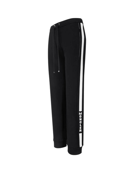 Women's Black Moncler Side Stripe Sweatpants 0938H70600V8105999