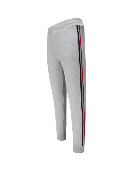 Men's Grey Moncler Side Stripe Track Sweatpants 0918H70100V8053999