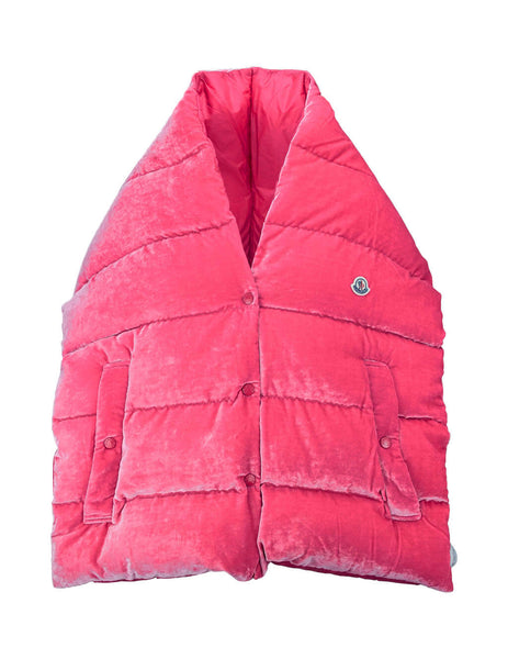 Moncler Women's Giulio Fashion Pink Snap Button Scarf 0042700549SF535