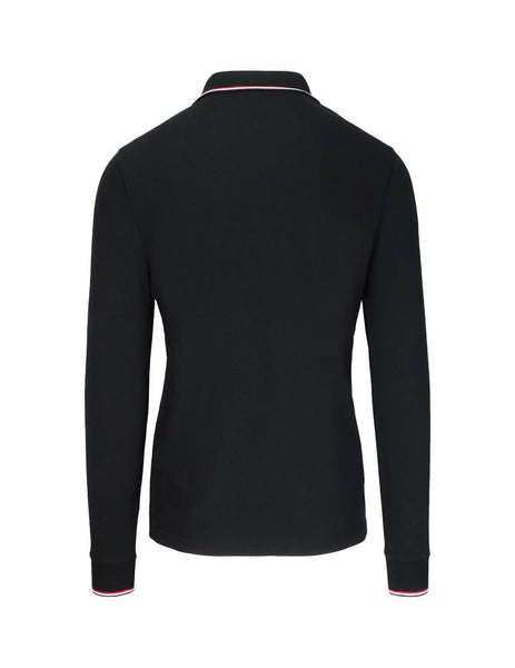 Moncler Men's Giulio Fashion Black Long Sleeve Polo Shirt 834800084556999