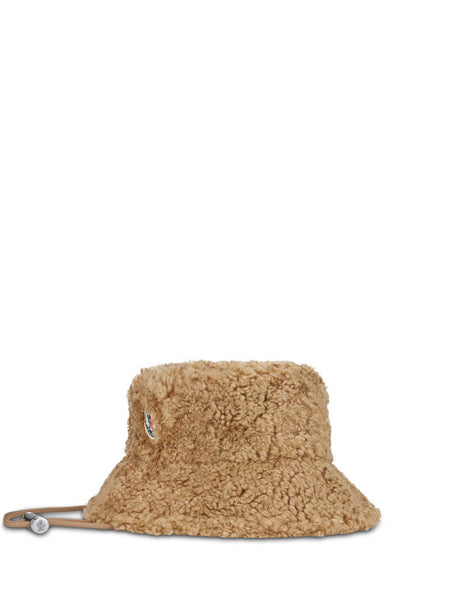Moncler Women's Giulio Fashion Light Beige Teddy Bucket Hat 0933B7260054AM622G
