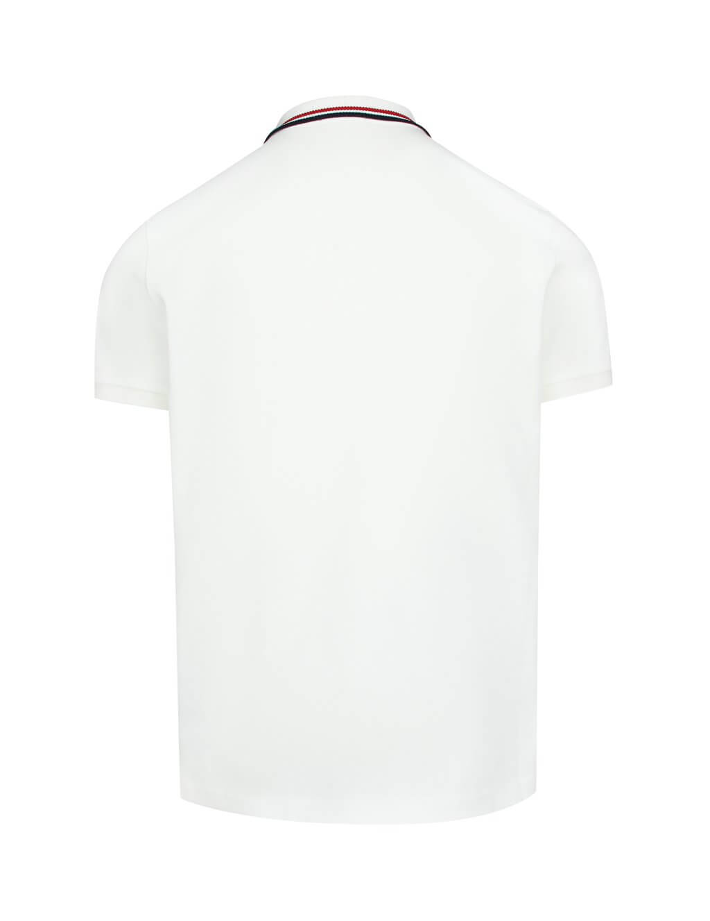 Moncler Men's Giulio Fashion White Tricolour Polo Shirt 830290084673004