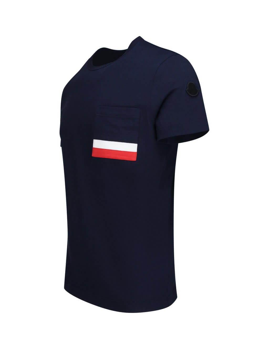 Moncler Men's Giulio Fashion Navy Tricolour Striped T-Shirt 803860089179780