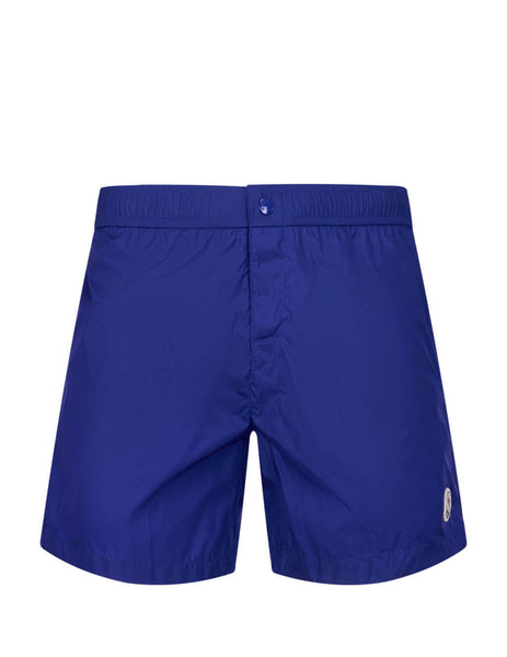 Men's Medium Blue Moncler Velcro Swim Shorts 0912C707005332673L