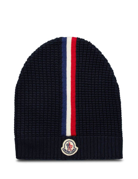 Moncler Men's Giulio Fashion Navy Waffle Knit Beanie 0919Z71200A9364742