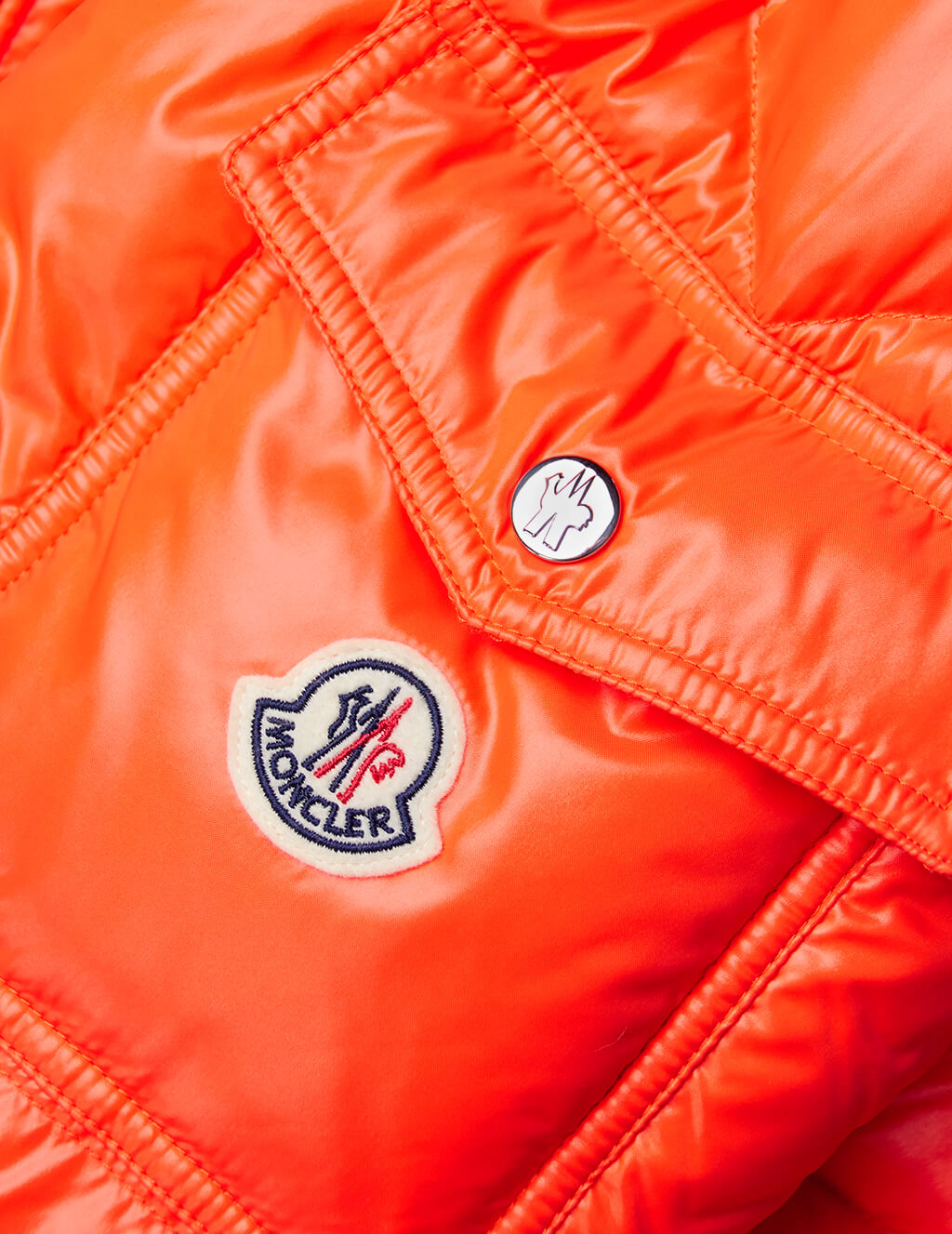 Moncler Men's Giulio Fashion Orange Wilson Jacket 419100568950326