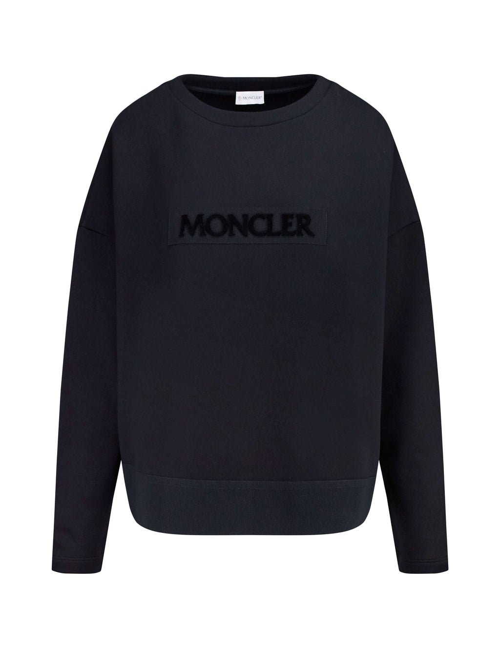 Moncler Women's Giulio Fashion Black Logo-Embossed Sweater 8054500809BE999