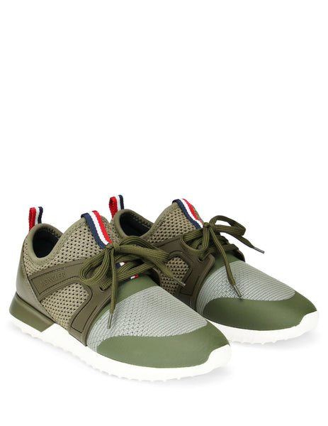 Moncler Women's Giulio Fashion Olive Green Meline Sneakers 202100001A9Q833