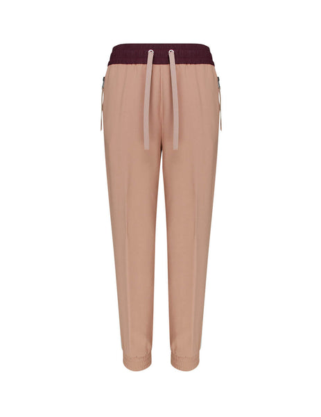 Moncler Women's Giulio Fashion Light Pink Woven Ribbon Sweatpants 0932A70400C0377510