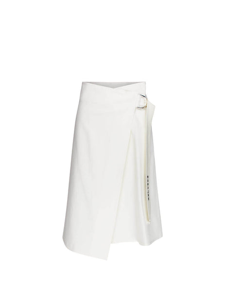 Moncler Women's Giulio Fashion Natural Wrap Midi Skirt 0932D70100V0064034