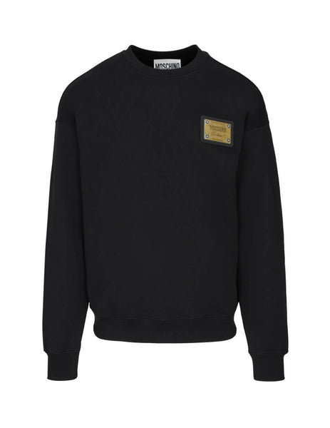 Moschino Men's Black Couture! Crew Neck Sweatshirt j172020271555