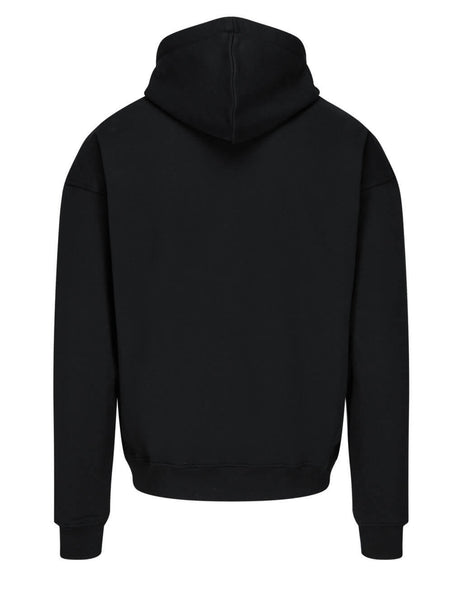 Men's Moschino Couture Logo Hoodie in Black - 211ZPA172920271555