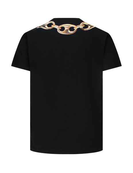 Men's Black Moschino Macro Ring Cotton T-Shirt 07155240A2555