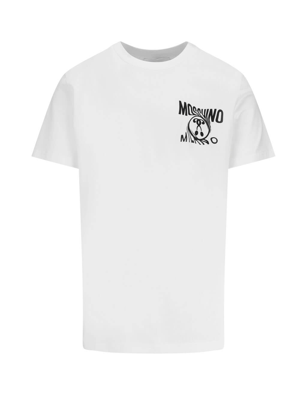 Moschino Men's Twisted Logo T-Shirt in White A0719.2401001