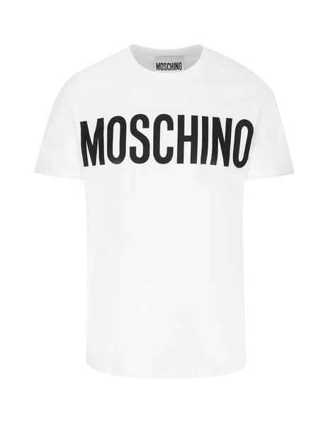 Moschino Men's White Bold Logo Cotton T-Shirt A070520401001