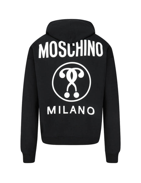 Men's Black Moschino Double Question Mark Hoodie J170670271555