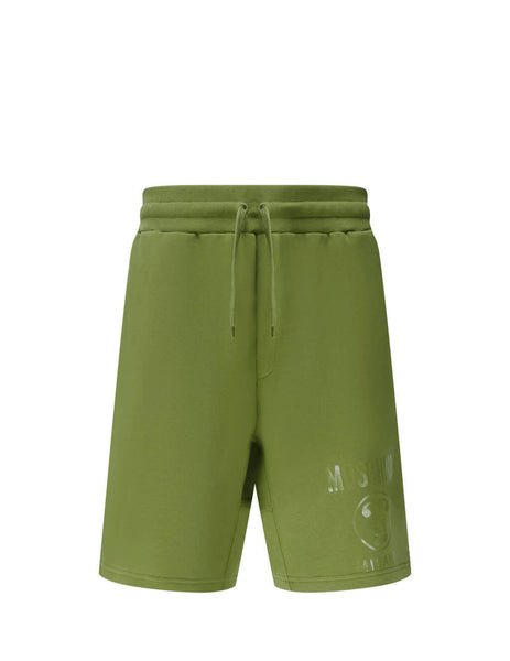 Men's Green Moschino Double Question Mark Shorts J034770270413