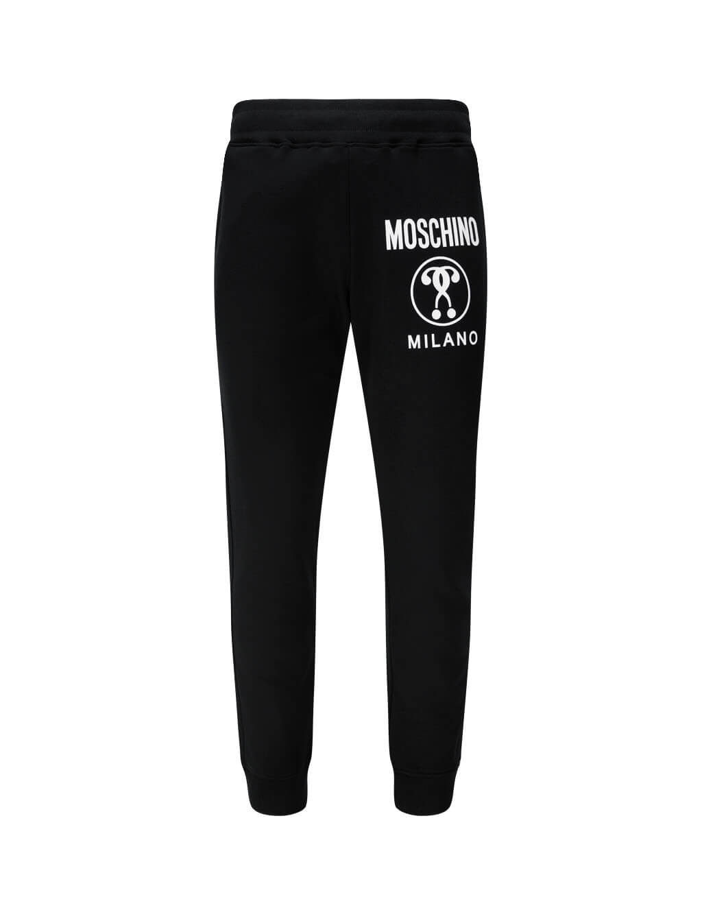 Men's Black Moschino Double Question Mark Track Pants J032170271555