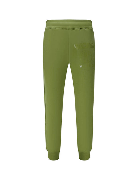 Men's Green Moschino Double Question Mark Track Pants J032170270413