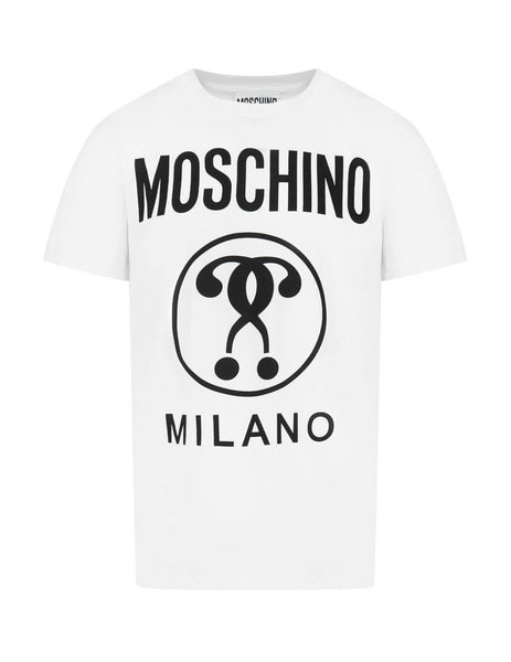 Men's White Moschino Double Question Mark T-Shirt J070670401001