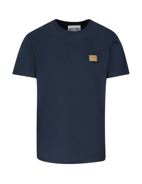 Moschino Men's Deep Navy Blue Made In Heaven Cotton T-Shirt A070120401510