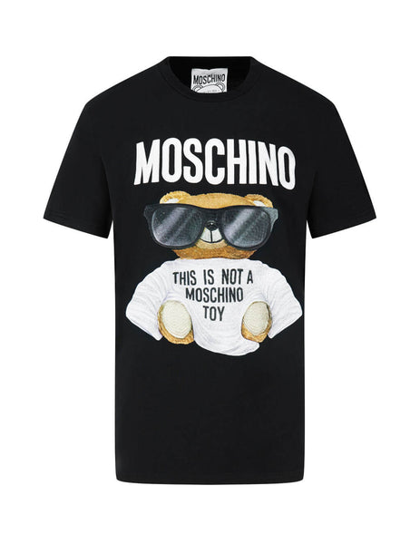 Men's Black Moschino Not A Toy T-Shirt 07015240V2555
